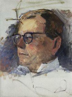 Portrait of Dmitri Shostakovich - Martiros Saryan