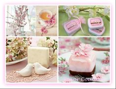 Spring Wedding Favors - Cherry Blossom Favors - Favor Couture http://favorcouture.theaspenshops.com/category/springgarden-favors.html