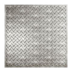 Diamond Plate - 2 ft. x 2 ft. Revealed Edge Lay-in Ceiling Tile in