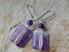 Check out this item in my Etsy shop https://www.etsy.com/listing/249552374/amethyst-dangle-earrings-handmade