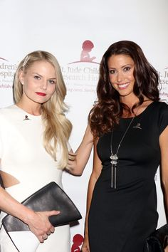 Jennifer Morrison and Shannon Elizabeth arrives at the St. Jude Against All Odds Celebrity Poker Tournament at Palms Casino Resort on November 7, 2015 in Las Vegas, Nevada.