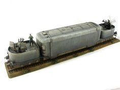 German Panzertriebwagen 16 armored train 1/35 scale. By Kamil Feliks Sztarbala. #scale_model
