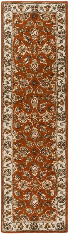 Middleton AWES-2046 Red/Beige Traditional Premium Wool Rug