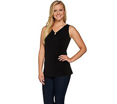 Susan Graver Liquid Knit Tank with Ring Detail