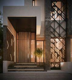 New Exterior Architecture Facade Entrance 42 Ideas # Design Exterior, Facade Design, Modern Exterior, Door Design, Entrance Design, House Entrance, Entrance Ideas, Architecture Design, Residential Architecture