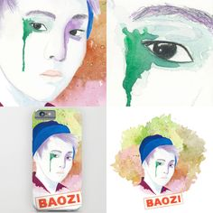 watercolor of Baozi more  https://society6.com/katkatekel #xiumin #exo #watercolor #society6 #kpop