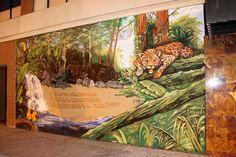 jungle mural by fasm, and klae Graffiti Murals, Aquarium, Painting, Art, Goldfish Bowl, Art Background, Aquarium Fish Tank, Painting Art, Kunst
