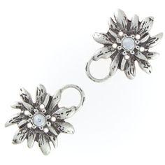 Dirndl-Öse-Edelweiss crystal silber mit Markenkristall Blitzversand - ab 50,- Versandkostenfrei - Zahlen mit PayPal