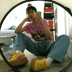 Urban baddies aesthetics and new grunge style 90s Fashion, Korean Fashion, Vintage Fashion, Fashion Outfits, Womens Fashion, Fashion Trends, Looks Style, Style Me, Look Street Style