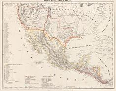 """""""Map of The  Republic of Texas, Mexico and Central America,"""" by C. Flemming, 1843. Carl Flemming was the founder of a German publishing firm located. This map is important because the Germans at this time were very interested in America, as many had and were emigrated to Texas seeking abundant land ownership and employment."""