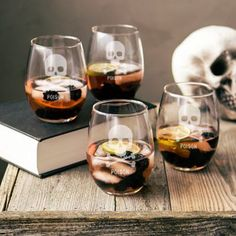 Add eeire whimsy to a Halloween party or anytime gathering. Each hand-blown…
