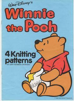 oh my so fun  PDF File  Winnie the Pooh Intarsia Knitting by RetroNeedles, $4.00