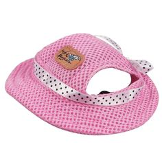 Kung Fu Dog Pet Princess Mesh Porous Sun Cap Hat with Ear Holes Only for Small Dogs * Discover this special dog product, click the image : Dog carrier