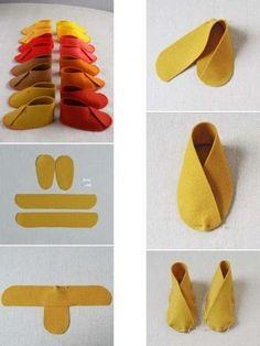 Zapatos con fieltro
