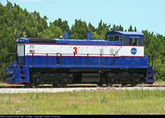 Nasa Railroad #3   Description:  #3 makes an appearance along the FEC mainline waiting for the final shipment of solid rocket boosters in the Space Shuttle program.   Photo Date:  5/27/2010  Location:  Jay Jay, FL   Author:  Kevin Andrusia  Categories:    Locomotives:  NLAX 3(SW1500)