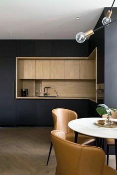 〚 Modern apartment in three levels in Kyiv sqm) 〛 ◾ Photos ◾Ideas◾ Design Kitchen Room Design, Modern Kitchen Design, Interior Design Living Room, Romantic Home Decor, Apartment Kitchen, Küchen Design, Design Ideas, Style At Home, Kitchen Furniture