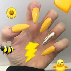 Yellow Nails - 28 Best Yellow Nails for 2018 - Best Nail Art #Bestsummernails