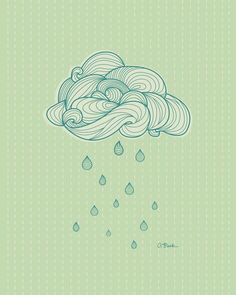 Cloud 8x10 print by AprilBlackDesigns on Etsy, $15.00