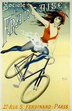 Antique Vintage Bicycle Posters