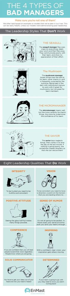 Are you a good leader? This infographic outlines 8 effective business leadership styles, and the 4 types of bad managers out there. Leadership Qualities, Leadership Development, Leadership Quotes, Professional Development, Student Leadership, Coaching Quotes, Leadership Activities, Leadership Coaching, Educational Leadership
