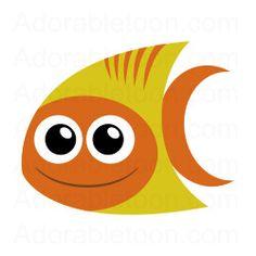 Cute tropical fish clipart from Adorabletoon.com