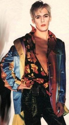 Nick Rhodes in an amazing outfit - 90's Duran