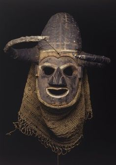 """""""Anthropomorphic Mask"""" (ca. early 20th century). Democratic Republic of Congo, Yaka peoples. Posted on brooklynmuseum.org."""
