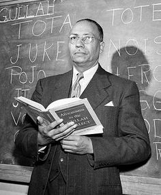 Lorenzo Dow Turner (8/21/1890 - 2/10/1973) was known for his research of the Gullah language of coastal South Carolina and Georgia, tracing it to its African roots in what is now Sierra Leone. He held an MA from Harvard and PhD from the University of Chicago, and taught English at Howard, Roosevelt University (Chicago), and Fisk, where he founded the African Studies Dept. He also co-founded a Peace Corps training program to prepare volunteers for service in Africa. #TodayInBlackHistory