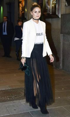 This Is How Olivia Palermo Wears a Graphic Tee via @WhoWhatWear