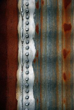 Rust | さび | Rouille | ржавчина | Ruggine | Herrumbre | Chip | Decay | Metal | Corrosion | Tarnish | Texture | Colors | Contrast | Patina | Decay | Rivets and Rust byJaki Good