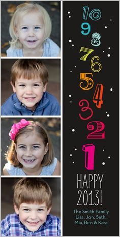 Confetti Countdown Colors New Year's Card
