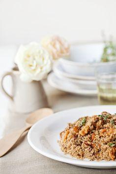 Couscous and balsamic strawberries | la casa sin tiempo