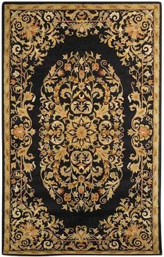 Heritage Black/Gold Area Rug