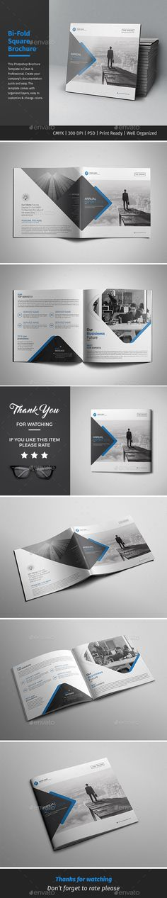Corporate Bi-fold Square Brochure Template PSD. Download here: http://graphicriver.net/item/corporate-bifold-square-brochure-06/16410625?ref=ksioks
