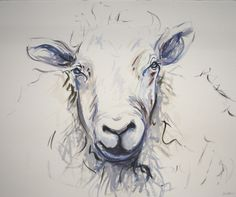 sheep sleep. watercolor on 300lb arches paper. This wonderful drawing by Abstract Equestrian (Ashleigh Cochran) reminds me of my childhood.