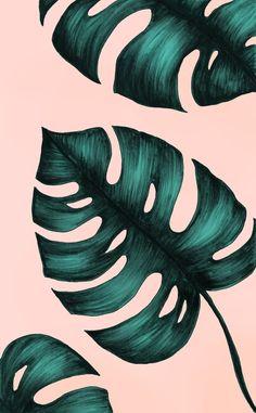 New Wallpaper Pastel Iphone Art Prints Ideas Wallpaper Pastel, Plant Wallpaper, Tumblr Wallpaper, Wallpaper Backgrounds, Palm Leaf Wallpaper, Floral Wallpaper Iphone, Tropical Wallpaper, Trendy Wallpaper, Wallpaper Lockscreen