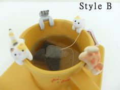 Tabby Cat Tea Bag Holder B  Cute Cat Tea Pot Teabag Holder