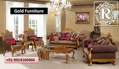 Luxury Living Room Sofa Set 3 - luxurious and formal living room furniture Gold Furniture, Luxury Furniture, Living Room Furniture, Furniture Sets, Royal Furniture, Classic Furniture, Quality Furniture, Furniture Styles, Industrial Furniture