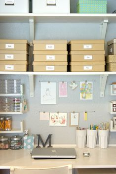 Thoughts for managing my space challenged office/guest bedroom.  My nook by almostbunnies, via Flickr