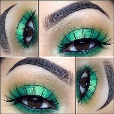 Gorgeous green look by IG'er: @beckysweethearttt using our 88 Color Tropical Matte & BH Day & Night Palette.<3 www.bhcosmetics.com