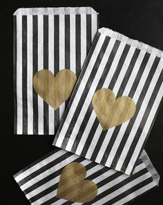 $8.00 for 10 gold heart bags!