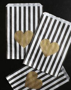gold heart bags!