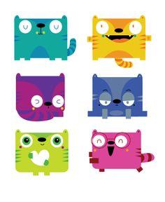 Cats by MJ Da  Luz, via Behance