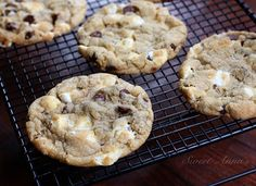gooey marshmallow chocolate chip cookies; the chewiest cookies with the help of melted butter and an egg yolk;  are rich, moist, incredibly chewy and absolutely irresistible