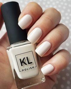 KL Polish: Coconut Milk | simple manicure | creamy white nails