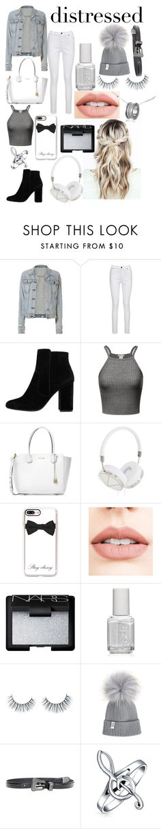 """""""😘😘✌️❤️"""" by ch3yxx ❤ liked on Polyvore featuring rag & bone, Joe Browns, MANGO, Michael Kors, Frends, Casetify, Jouer, NARS Cosmetics, Essie and Unicorn Lashes"""