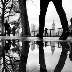 The Parallel Worlds of Puddles - Puddles of London, England.