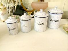 French Porcelain Canisters  $98  Dallas Vintage Market Booth #300   Lula B's 1010 N. Riverfront Blvd. Dallas, TX 75207