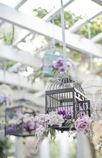 Pretty birdcages | lilac / lavender decoration