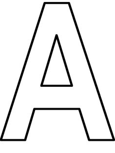 19 best Letter A Coloring Pages images on Pinterest | Letter a ...